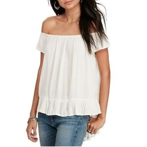 Ralph Lauren Off the Shoulder Top Blouse NWT